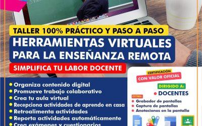 Capacitación Docente Herramientas Virtuales para la enseñanza remota