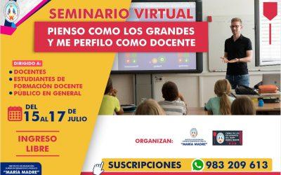 Seminario Virtual Pienso como los grandes y me perfilo como docente