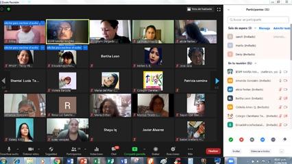 Inauguración del Programa de Auxiliares en Educación Especial Virtual