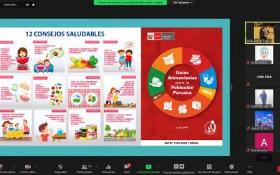 Capacitación Virtual – Alimentación Saludable en el Contexto de la 2da Ola Pandémica